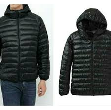ultra light down jacket in a bag ultra light down parka in black large for men nwt uniqlo jackets