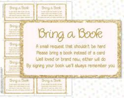 baby shower instead of a card bring a book bring a book book in lieu of a card shower book