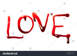 punjabi love letter for girlfriend in punjabi love word written letters dripping blood stock photo 43744087