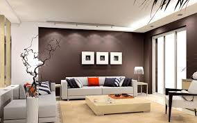 Modern Interior House Paint Ideas Design Orange Wall Living Area Paint And Furniture Design With Orange