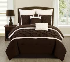 What Size Is A Full Size Comforter Legacy Decor 8 Pc Brown And Cream Pintuck Design Full Size