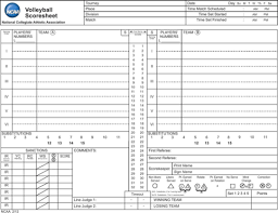 doc 580580 volleyball score sheet template u2013 sample volleyball