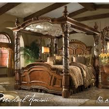 California King Size Bed Comforter Sets Michael Amini Villa Valencia California King Size Canopy Poster