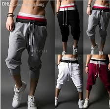summer style capri 2018 wholesale summer style mens harem capri sport athletic baggy