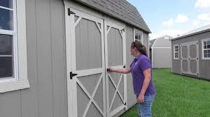 Derksen Portable Finished Cabins At Enterprise Center Youtube New Derksen 10x20 Lp Painted Side Lofted Barn Youtube