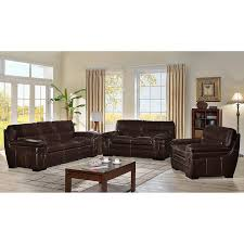 Top Grain Leather Living Room Set Madera 3 Top Grain Leather Living Room Set