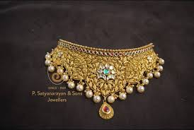 necklace choker design images Gorgeous gold choker necklace indian gold choker necklace the jpg