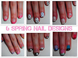 6 super easy and simple spring nail designs youtube