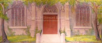 church backdrops church exterior backdrop backdrops by charles h stewart