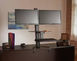 kangaroo standing desk dual monitor best home furniture decoration