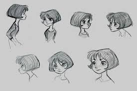 drawing of bob hair jk455 jpg 1600 1220 jin kim pinterest художники