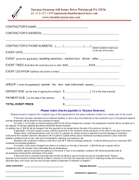 chamber music contract form for selling vawebs