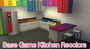 how to make a corner kitchen cabinet sims 4 base kitchen rainbow recolors rainbowsparklessims