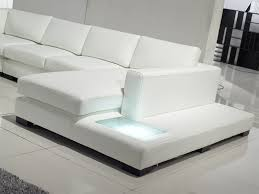 White Leather Sofa Sectional Modern White Leather Sectional Sofa Tos Lf 2029