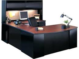 Office Depot Desks And Hutches Realspace Broadstreet Executive U Shaped Office Desk With Matching
