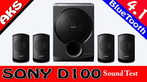 home theater system f d sony sa d100 4 1 home theatre sound test by aks fight club