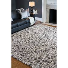 Discount Area Rugs 8 X 10 Woven Albie Wool Look Textured Rug 8 X10 Overstock