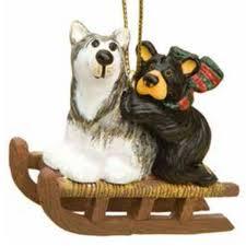 australian shepherd ornament bear and sled dog ornament u2014 bear country gallery