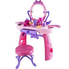 childrens dressing table mirror with lights deluxe girls princess pink musical dressing table vanity light