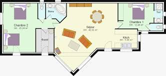 plan maison plain pied 2 chambres garage plan de maison plain pied 100m2 cheap gallery of plan maison