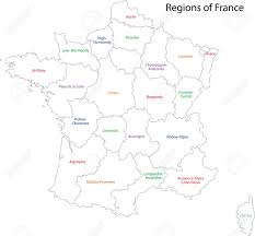 Normandy France Map Outline France Map With Regions Royalty Free Cliparts Vectors