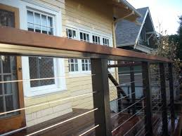 ipe deck with stainless steel cable rail cable railing with ipe