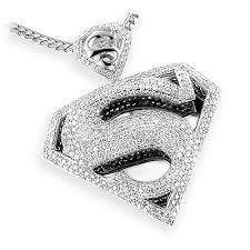 necklace pendants charms images 14k gold diamond superman pendant charm 4 50ct jpg
