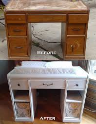 Diy Studio Desk by Old Desk Re Purposed Into A Changing Table Masterwork Studio