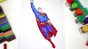 coloring pages superman boy toddlers spiderman color