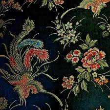 show stealing asian influenced black multi phoenix peacock show stealing asian influenced black multi phoenix peacock firebird embroidered brocade upholstery fabric