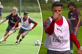 alexis sanchez youtube arsenal alexis sanchez transfer forward looks happy in training