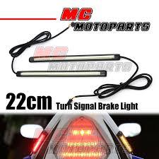 led light strip turn signal rear tail brake turn signal 220mm led strip lights for bonneville