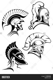 outline spartan warriors vector u0026 photo bigstock