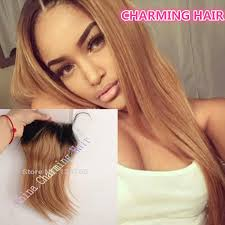 blonde hair with dark roots 8a dark roots ombre 1b 27 honey blonde hair lace closure straight