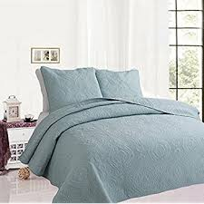 Solid Color Quilts And Coverlets Amazon Com Terra Collection 3 Piece Luxury Quilt Set With Shams