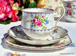 royal albert petit point 1930 u0027s vintage bone china teacup trio