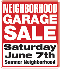 garage sale u2013 sumner association of neighbors san