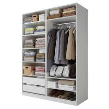 rangement placard chambre dressing blanc largeur 150 cm darwin placards chambre meuble pas