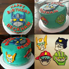 transformers rescue bots 1 edible cake or cupcake topper edible rescue bot birthday cake i made for my sons 3rd birthday