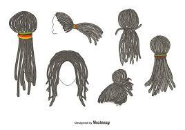 dreadlocks hairstyle vector download free vector art stock