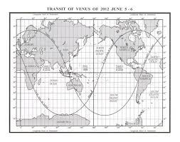 Venus Map Transits