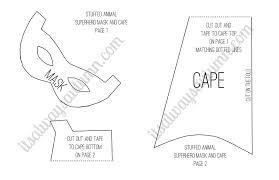 kids can do it stuffed animal superhero mask and cape it u0027s