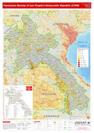 Population Density Map Us Population Density Of Lao People S Democratic Republic Lpdr Unitar