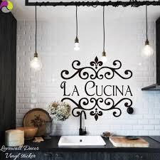 la cuisine citation la cucina cuisine sticker mural italien cuisine citation décor de