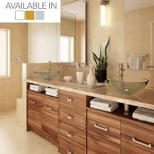 above counter bathroom sink decolav anani 1019t translucence collection round 19mm glass