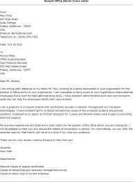 best sample cover letter for admin job 66 for download cover