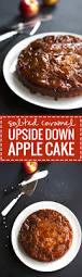 salted caramel apple upside down cake recipe pinch of yum