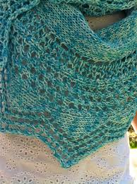knitting cottage a turquoise scarf for the summer debbie u0027s