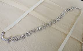 bling belts for wedding dresses cecile thin bridal belt sash rhinestone wedding gown