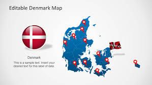 editable denmark map template for powerpoint slidemodel